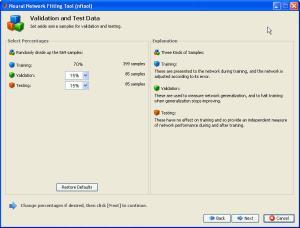 Validation data window